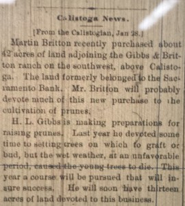Microfilm of the Napa County Recorder, January 28, 1881